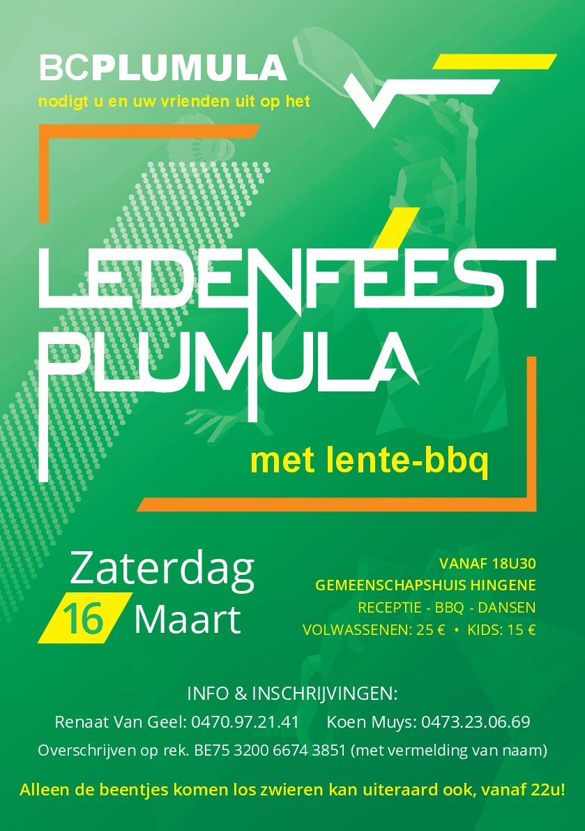 Plumula ledenfeest 2019 flyer
