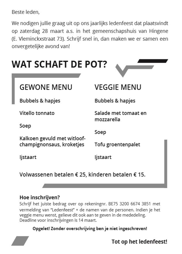 Ledenfeest 2020 Flyer 2